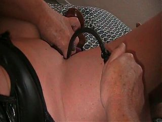 playing with inflate dildo