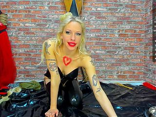 Sexy Latex Corset and Mask Camshow