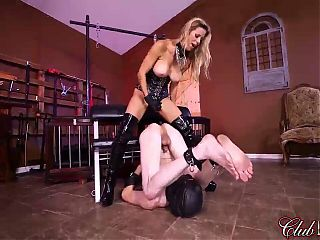 Alexis Fawx Strap-On Fucking a Male Slave