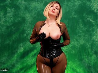 Latex rubber FETISH VIDEO - sexy big ass MILF tease and JOI