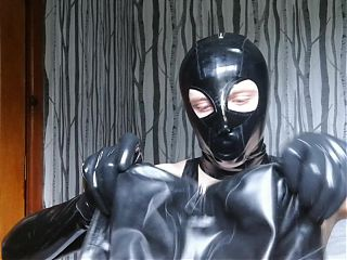 Layering Latex Rubber Gag Hood and Other Hoods