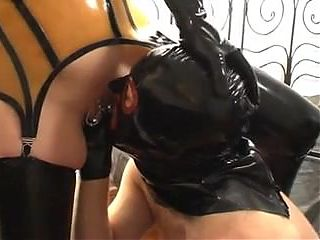 Rubber whore - pissing and fucking - part 3-6