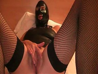 play with her jucy lips in cagoule hood