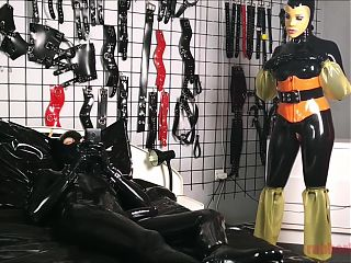 Latex Sex on Heavy Rubber Bed