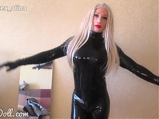 Head to Toe Heavy Latex Doll in Barbie Mask