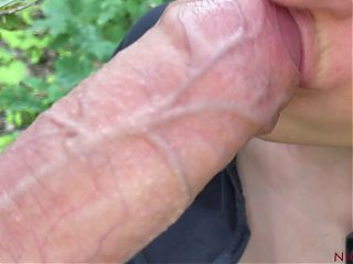Stranger was with girl in the woods – POV blowjob
