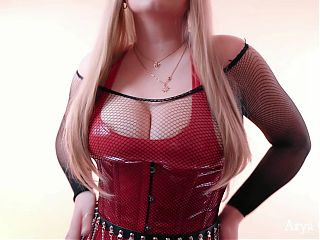Red PVC Mistress, JOI part 1