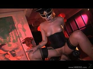 Nun Donna Marie in latex stockings