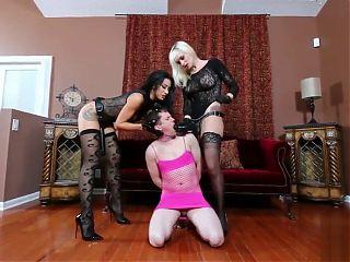 2 Mistresses and 2 Sissy Sluts