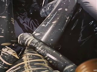 Vicky Devika Gas Mask Heavy Rubber Latex Compilation
