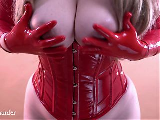 Red Latex Gloves, Free Fetish Video
