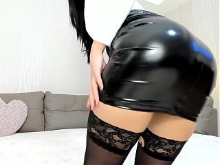 Shiny Vinyl Skirt