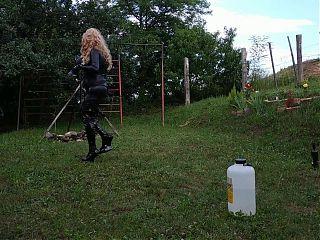Sexy goth dominatrix trains her shemale horseman pt2 HD