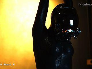 fx-tube com Goth Mistress training zentai slave
