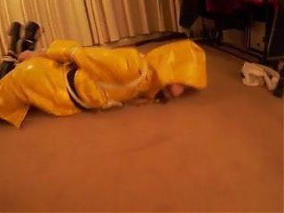 yellow raincoat bound
