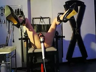 Lesbian BDSM - Magic Wand Orgasm - Mistress Regina Milano